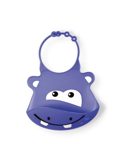 Babador de Silicone Silybib (Hipopótamo) Multikids Baby - BB044