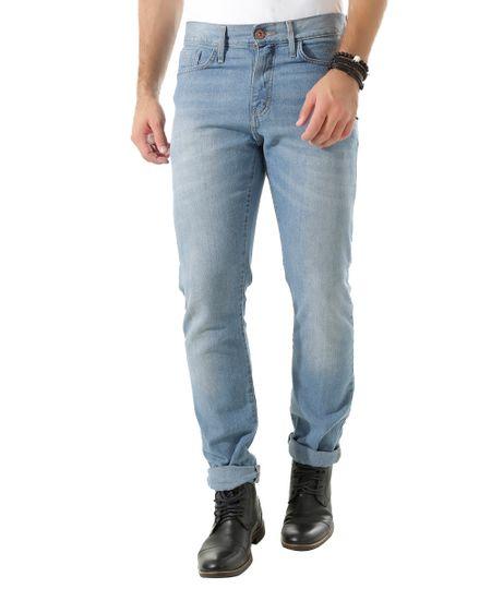 Calça Jeans Reta Azul Claro