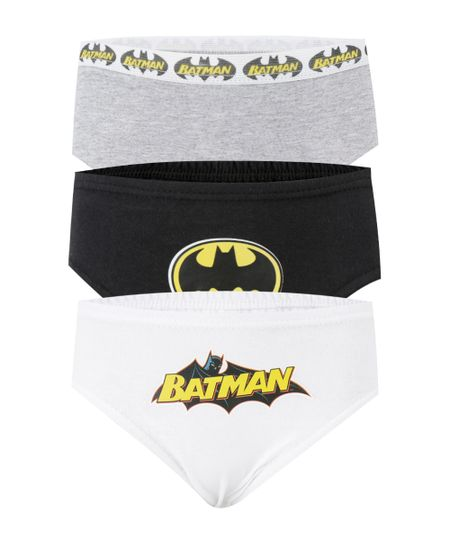 Kit de 3 Cuecas Batman Multicor