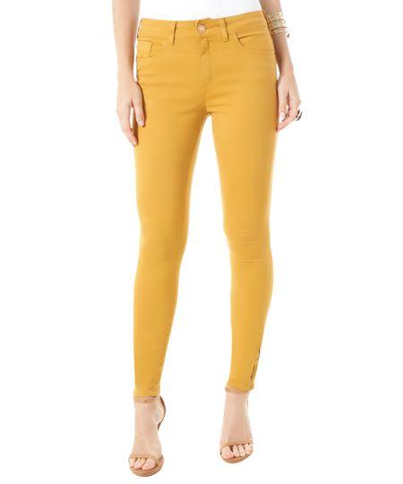 Calça Super Skinny Amarelo Escuro