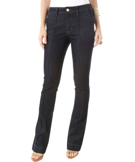 Calça Jeans Flare Azul Escuro
