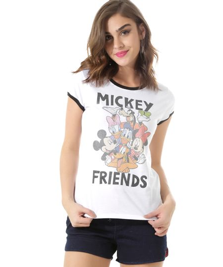 Blusa Turma do Mickey Branca