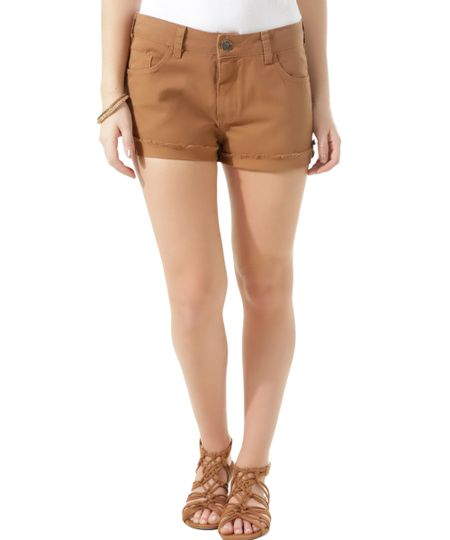 Short Relaxed Caramelo