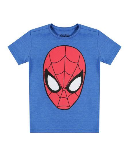 Camiseta Homem Aranha Azul