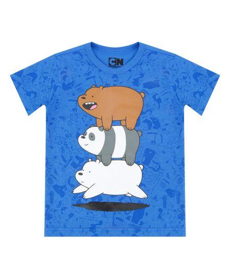 Camiseta Ursos sem Curso Azul