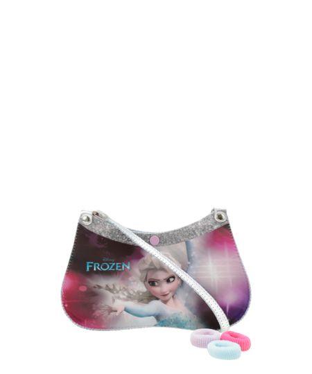 Bolsa Frozen + Elástico de Cabelo Prateada