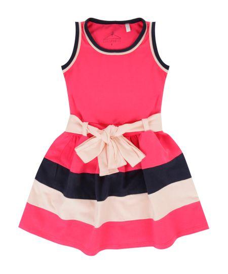 Vestido com Laço Pink