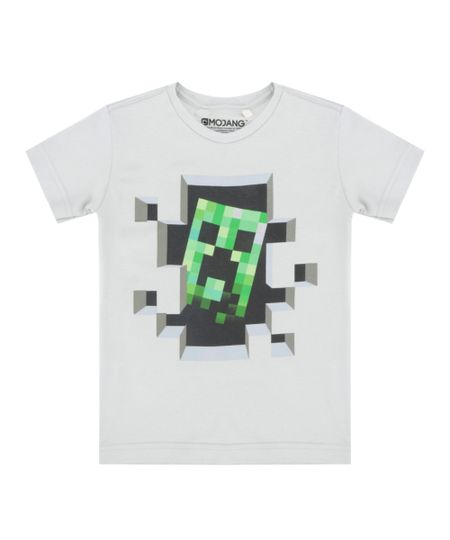 Camiseta Minecraft Cinza