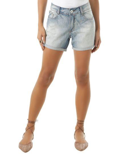 Short Jeans Comfort Azul Claro