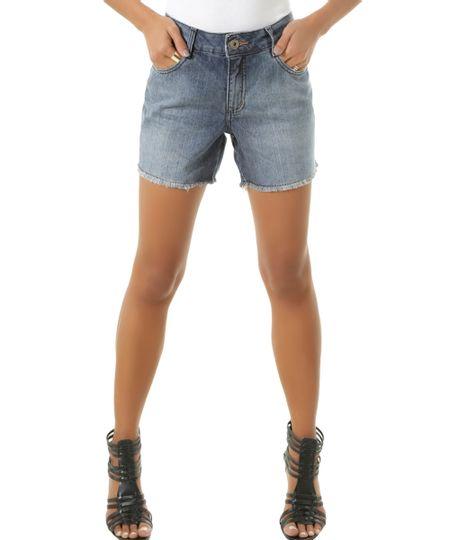Short Jeans Comfort Azul Médio