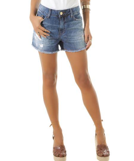 Short Jeans Relax Azul Claro
