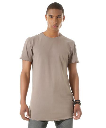Camiseta Longa Kaki