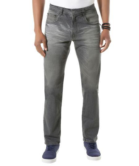 Calça Jeans Reta Preta