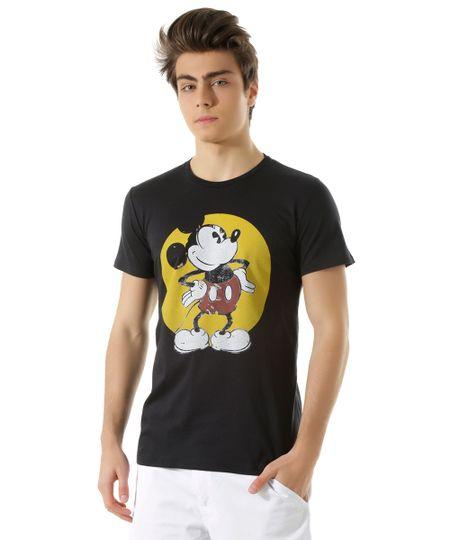 Camiseta Mickey Preta