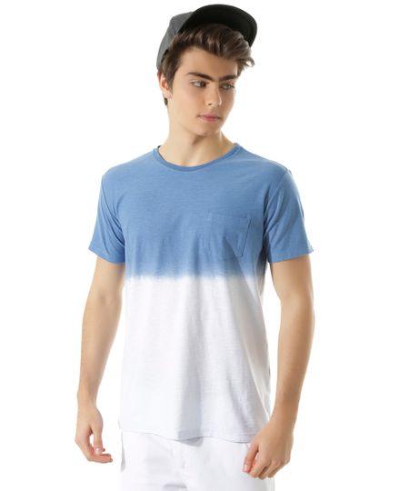 Camiseta Flamê Tie Dye Azul