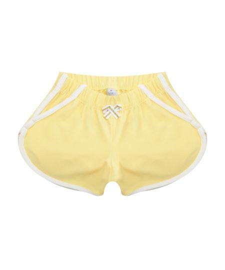 Short com Laço Amarelo