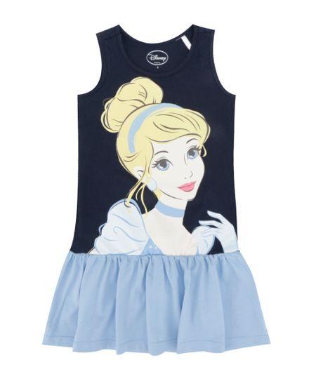 Vestido Cinderela Azul Marinho