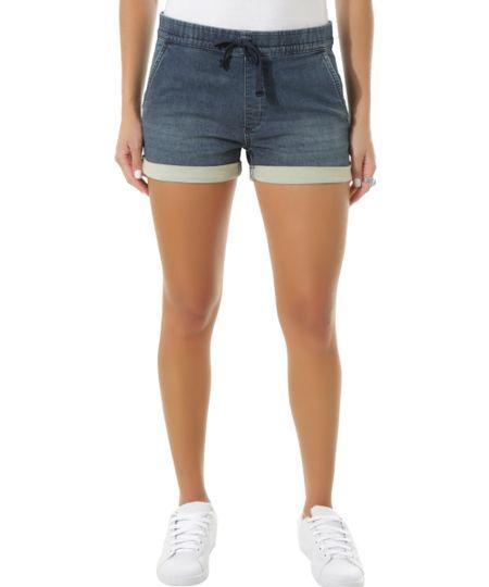Short Jeans em Moletom Azul Médio