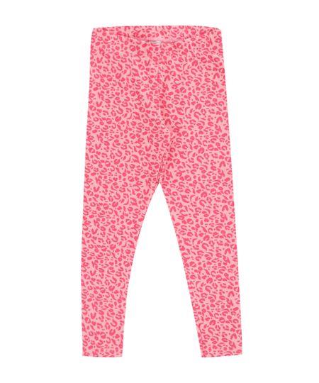Calça Legging Estampada Animal Print Rosa