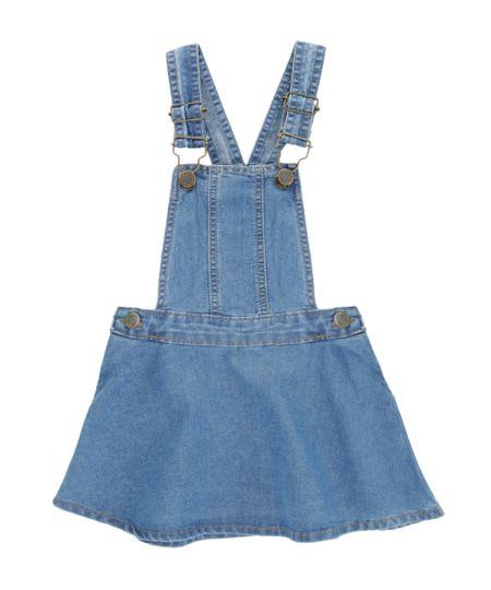 Salopete Jeans Azul Médio