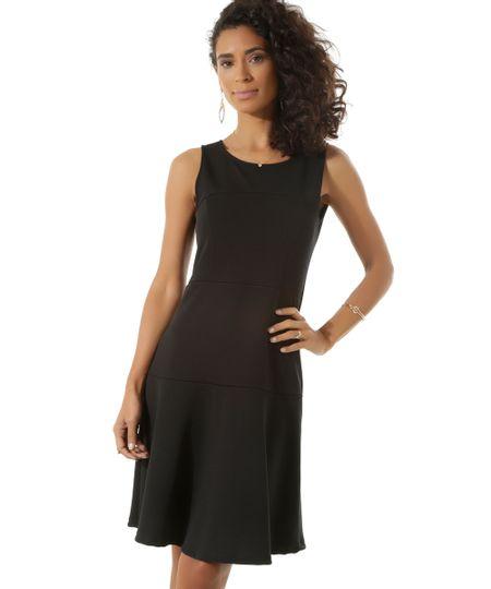 Vestido Texturizado Preto