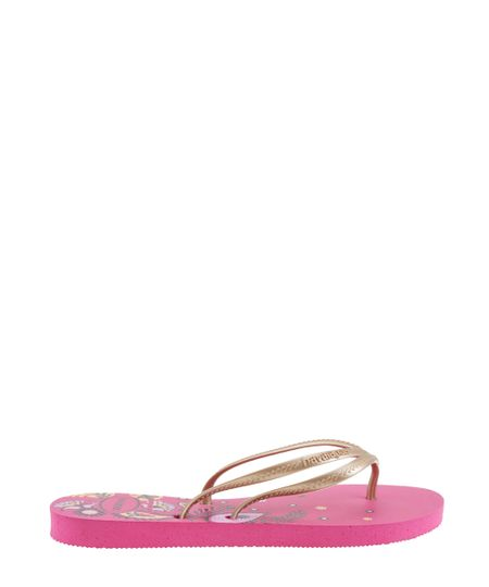 Chinelo Havaianas Floral Rosa