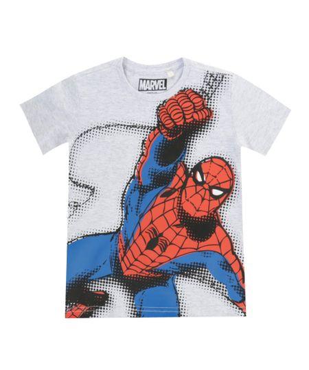 Camiseta Homem Aranha Cinza Mescla