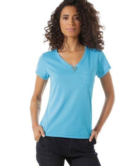 Blusa Básica Azul