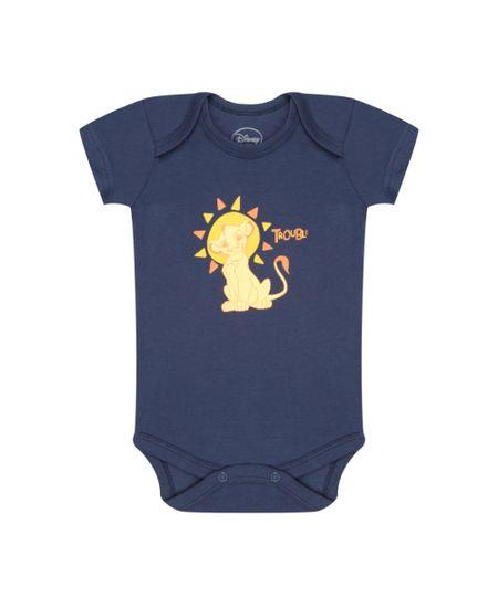 Body Simba em Algodão + Sustentável Azul Marinho