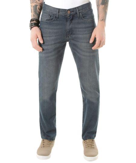 Calça Jeans Reta Azul Médio