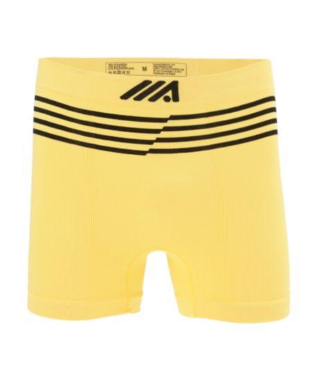 Cueca Boxer Sem Costura Ace Amarela