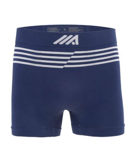 Cueca Boxer Sem Costura Ace Azul Marinho