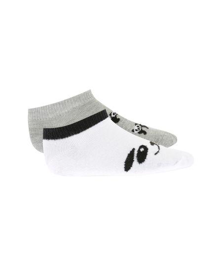 Kit de 2 Meias Panda Multicor