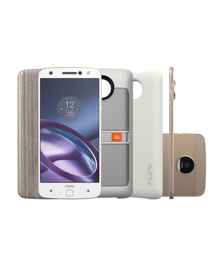 Smartphone Motorola Moto Z Power & Sound Edition XT1650-03 64GB Dual 4G Android 6.0 Câmera 13 MP Quad Core  Branco