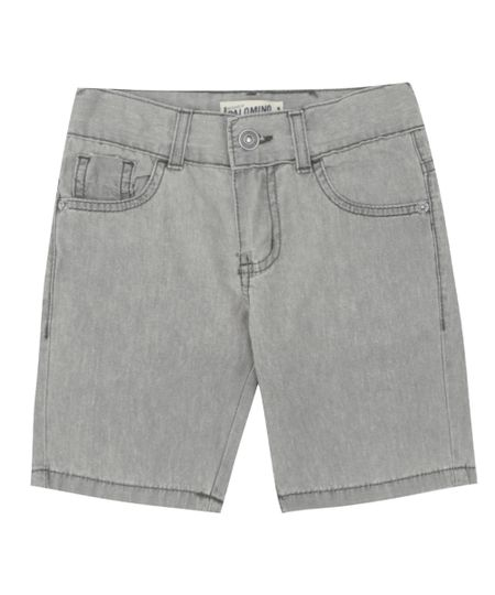 Bermuda Jeans Cinza