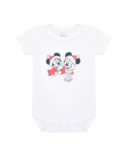 Body Mickey & Minnie em Algodão + Sustentável Branco