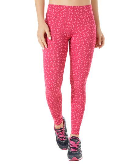 Calça Legging Ace Estampada Geométrica Rosa