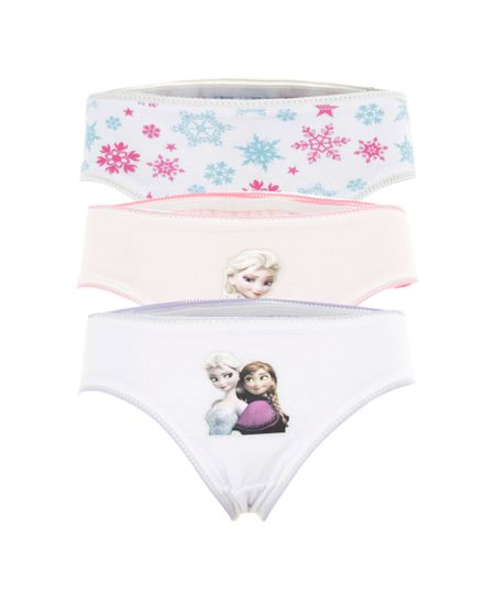 Kit de 3 Calcinha Frozen Multicor