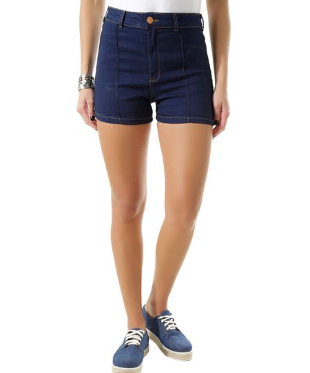 Short Hot Pant Jeans Azul Escuro