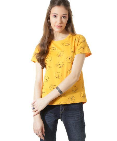 Blusa Estampada Piu Piu Amarela