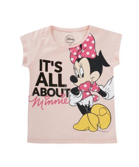Blusa Minnie Rosa Claro