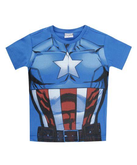Camiseta Capitão América Azul