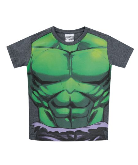 Camiseta Hulk Cinza Mescla Escuro