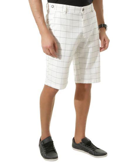 Bermuda-Slim-Estampada-Quadriculada-Branca-8309881-Branco_1