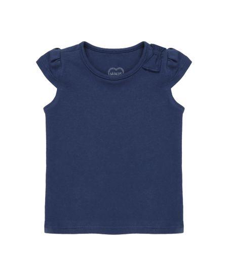 Blusa Básica Azul Marinho
