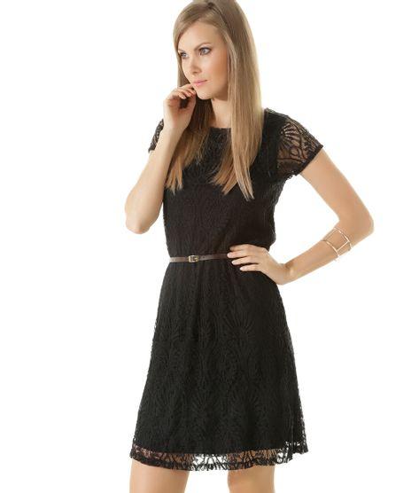 Vestido-em-Renda-com-Cinto-Preto-8412516-Preto_1
