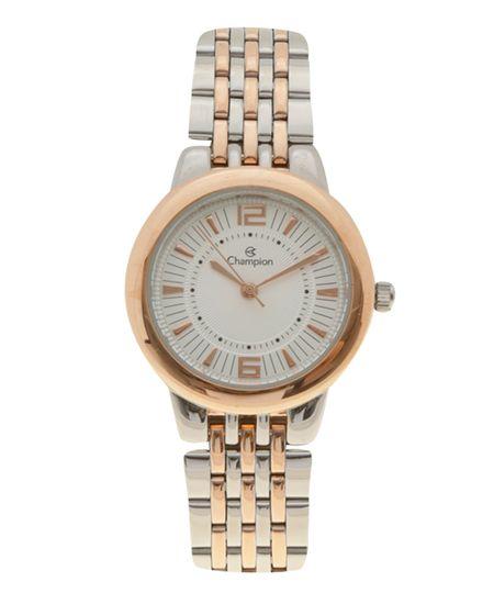 Relógio Champion Analógico Feminino - CN28188M -  Prateado