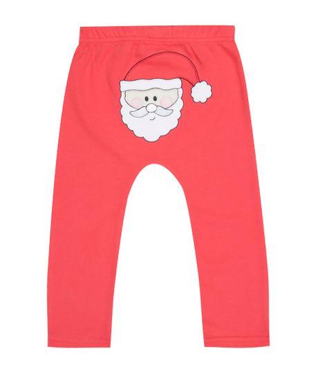Calça Papai Noel em Algodão + Sustentável Vermelha
