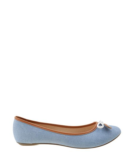 Sapatilha Jeans Moleca Azul Médio