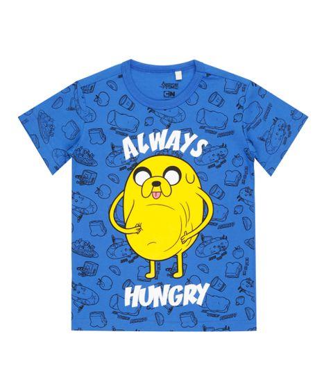 Camiseta-Hora-de-Aventura-Azul-8465470-Azul_1